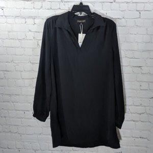 mary & mabel | Black Long Sleeve Relaxed Tunic